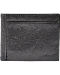 Fossil Leather Wallet - Black
