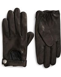 AllSaints - Leather Driving Gloves - Lyst