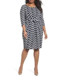 Adrianna Papell - Adrianna Pappell Beading Beauty Pleated Waist Dress - Lyst