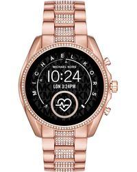 Michael Kors Gen 5 Bradshaw Pavé Silver-tone Smartwatch - Multicolor