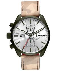 DIESEL - Diesel Ms9 Chronograph Strap Watch - Lyst