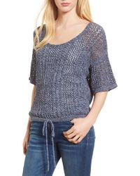 Splendid - Knox Crochet Sweater - Lyst