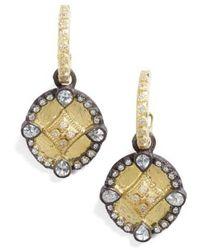 Armenta - Old World Shield Diamond Drop Earrings - Lyst