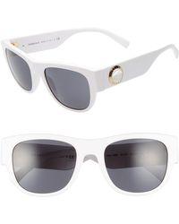 429599dee7025 Lyst - Versace 142mm Mirrored Shield Sunglasses in Gray