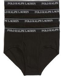 Polo Ralph Lauren 4-pack Low Rise Cotton Briefs, Black