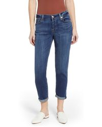 7 For All Mankind 7 For All Mankind Josefina Ankle Boyfriend Jeans - Blue