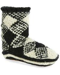 Woolrich Chalet Slipper Socks - Black