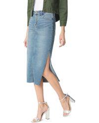 76da68cd7 Lyst - Sam Edelman The Riley Stretch Denim Skirt in Blue