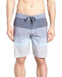 Travis Mathew Seegrid Regular Fit Board Shorts - Blue
