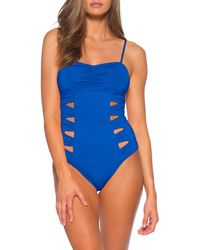 SOLUNA Clear Skies Maillot Cutout One-piece Swimsuit - Blue