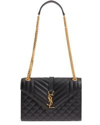 Saint Laurent - Medium Cassandre Calfskin Shoulder Bag - - Lyst