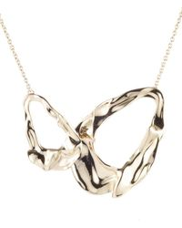 Alexis Bittar - Retro Gold Collection Crumpled Link Necklace - Lyst