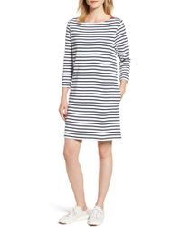 Barbour - Southwold Stripe T-shirt Dress - Lyst