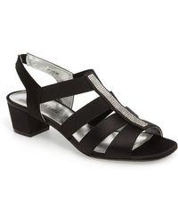 David Tate Eve Embellished Sandal - Black