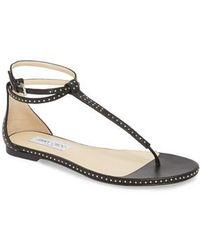 Jimmy Choo - Afia Studded Flat Sandal - Lyst