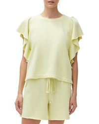Michael Stars Ariana Flutter Sleeve Top - Multicolor