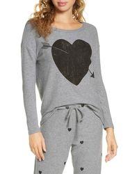 Chaser Arrow Heart Cozy Sweatshirt - Gray