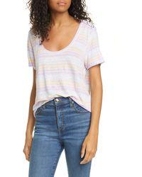 Veronica Beard Benji Stripe Linen T-shirt - Multicolor