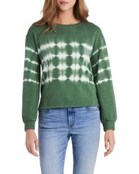 Vince Camuto Tie Dye Sweatshirt - Green