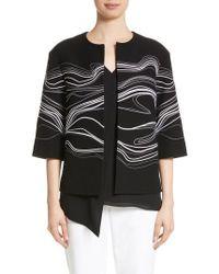 St. John - Bella Brushstroke Double Weave Jacket - Lyst