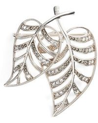 Judith Jack - Two Leaves Pave Pin - Lyst