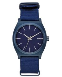Nixon - The Time Teller Nato Strap Watch - Lyst