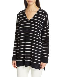 Eileen Fisher - V-neck Tunic Sweater - Lyst