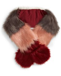 BP. - Colorblock Faux Fur Pull Through Scarf - Lyst