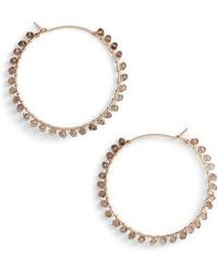 Nashelle | Gem Cascade Hoop Earrings | Lyst