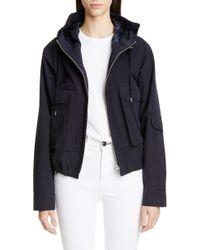 Jacquemus Linen Blend Hooded Jacket - Multicolor