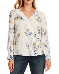 Vince Camuto Weeping Willows V - Neck Blouse - White