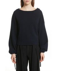Vince - Scrunch Sleeve Wool & Cashmere Hoodie - Lyst
