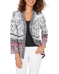 Foxcroft Florence Mixed Print Cardigan - Multicolor