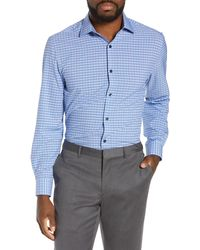 W.r.k. - Slim Fit Check Performance Dress Shirt - Lyst