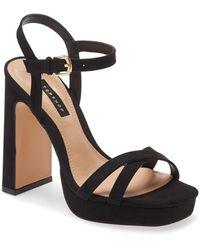TOPSHOP Sienna Platform Sandal - Black