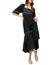 Free People I'm The One High/low Dress - Black