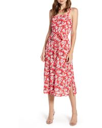 Chelsea28 Tie Front Print Sundress - Red