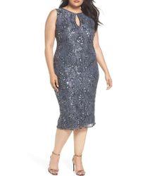 Pisarro Nights - Sequin Lace Sheath Dress - Lyst