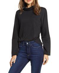 Caslon Caslon Cozy Turtleneck Sweatshirt - Black