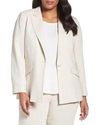 Louben Peak Lapel Suit Jacket (plus Size) - Multicolor