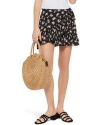 TOPSHOP - Ditsy Frill Miniskirt - Lyst