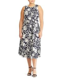 Lauren by Ralph Lauren - Feliana Coastal Floral Midi Dress - Lyst