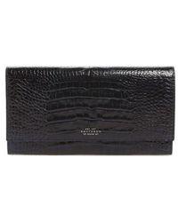 Smythson - Mara Marshall Croc Embossed Leather Travel Wallet - - Lyst