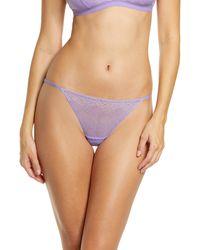Madewell Lace String Bikini - Purple