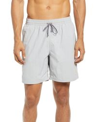 Nike Just Do It Swoosh Volley Swim Trunks - Gray