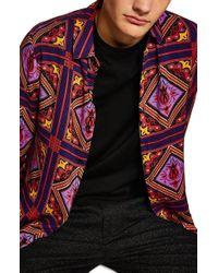 TOPMAN - Tile Classic Fit Shirt - Lyst