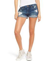 Blank NYC Boyfriend Denim Shorts - Blue