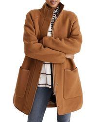 Madewell Estate Cocoon Coat - Brown