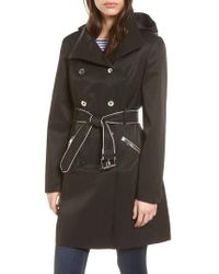 Guess | Hooded Piped Trench Coat | Lyst