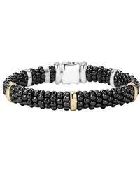 Lagos - 'black Caviar' Rope Bracelet - Lyst